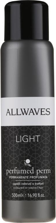 Prostriedok na trvalú onduláciu pre farbené vlasy bez amoniaku a kyseliny tioglykolovej - Allwaves Permanente Light Profumata — Obrázky N1