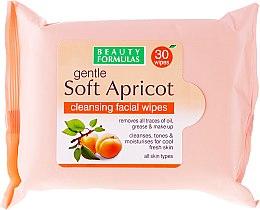 Voňavky, Parfémy, kozmetika Utierky na tvár, čistenie - Beauty Formulas Gentle Soft Apricot Cleansing Facial Wipes