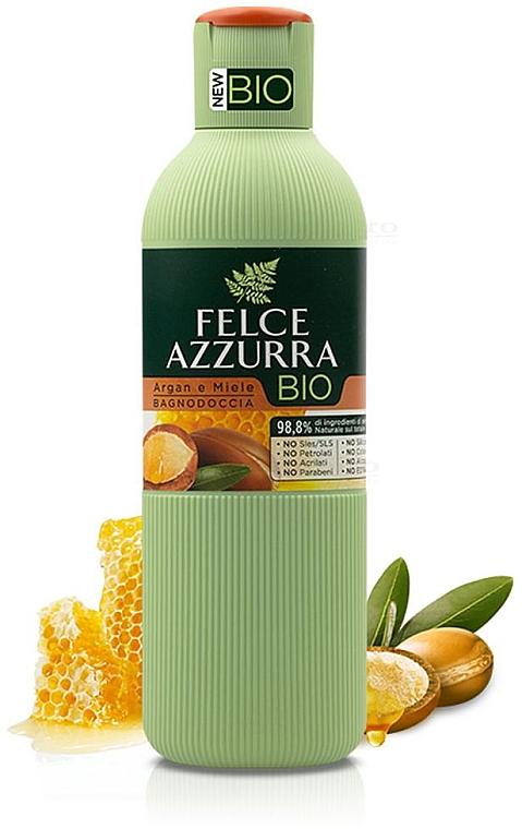 """Sprchový gél """"Arganový olej a med"""" - Felce Azzurra BIO Argan & Honey Shower Gel"""