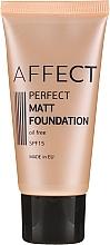 Voňavky, Parfémy, kozmetika Matný tónovaci základ - Affect Cosmetics Perfect Matt Foundation