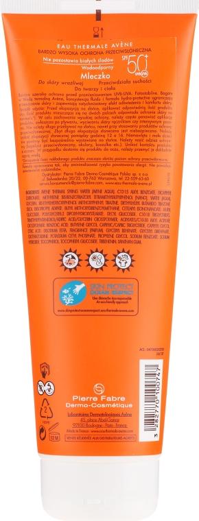 Opaľovací lotion - Avene Eau Thermale Sun Very High Protection Lotion SPF50 — Obrázky N2