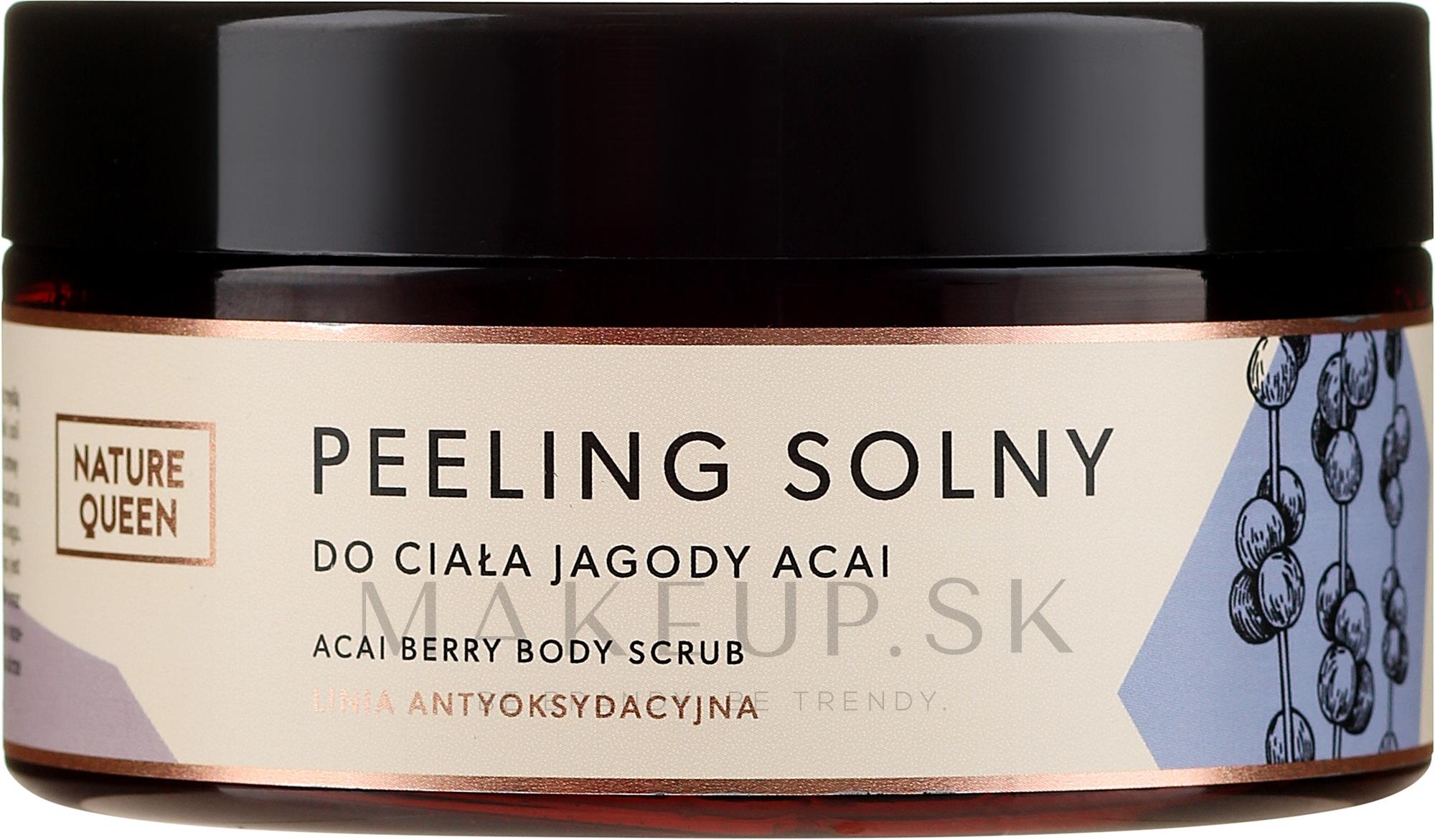 """Soľný scrub na telo """"Bobule Acai"""" - Nature Queen Body Scrub — Obrázky 250 g"""