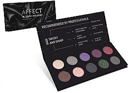 Voňavky, Parfémy, kozmetika Paleta očných tieňov - Affect Cosmetics Smoky And Shiny Eyeshadow Palette