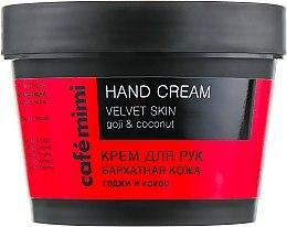 """Voňavky, Parfémy, kozmetika Krém na ruky """"Sametová pokožka"""" bobule goji a kokos - Cafe Mimi Hand Cream Velvet Skin"""