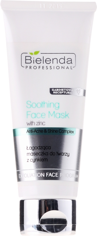 Upokojujúca maska s zinkom - Bielenda Professional Exfoliation Face Program Soothing Mask with Zinc — Obrázky N1