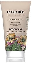 """Voňavky, Parfémy, kozmetika Dezodorant """"Hladkosť a krása"""" - Ecolatier Organic Cactus Deodorant"""