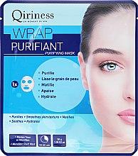 Voňavky, Parfémy, kozmetika Látková maska na tvár,čistiaca - Qiriness Wrap Purifiant Mask