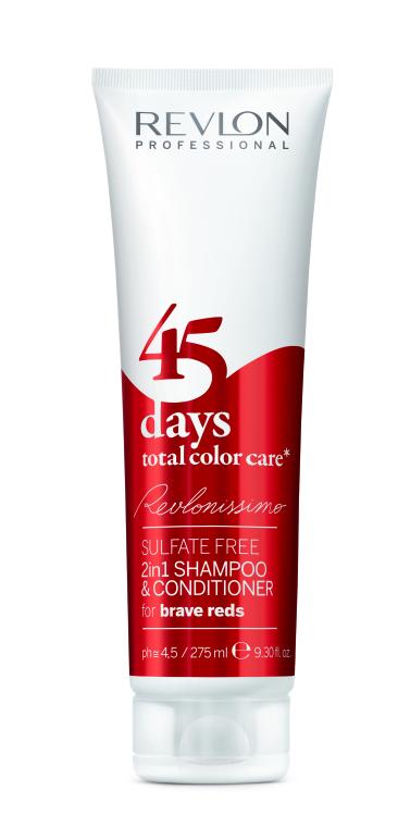 Šampón-kondicionér jasne červený - Revlon Professional Revlonissimo 45 Days Brave Reds — Obrázky N1