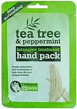 Voňavky, Parfémy, kozmetika Maska-rukavice na ruky - Xpel Marketing Ltd Tea Tree & Peppermint Deep Moisturising Hand Pack