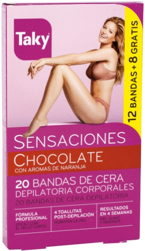 Depilačné voskové pásky na telo - Taky Chocolate Body Wax Strips With Orange Fragrance Box