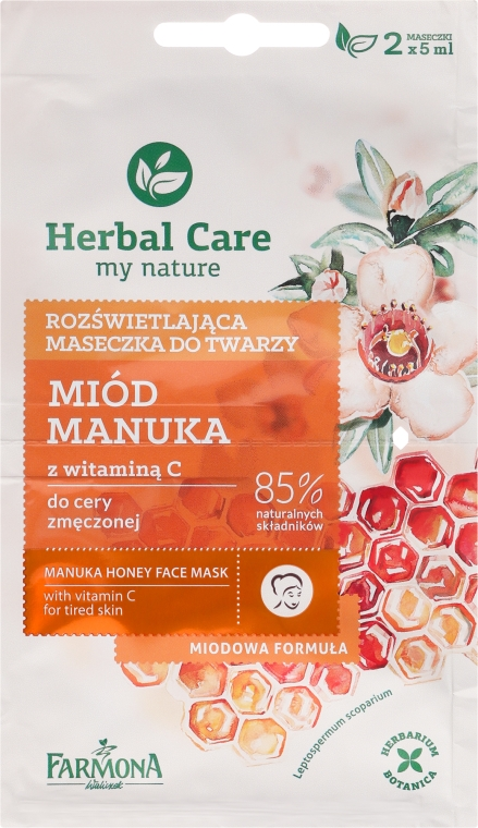 "Maska na tvár ""Med a vitamín C"" - Farmona Herbal Care Manuka Honey Face Mask"