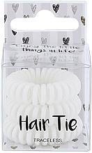 Voňavky, Parfémy, kozmetika Gumičky do vlasov, biele - Cosmetic 2K Hair Tie White