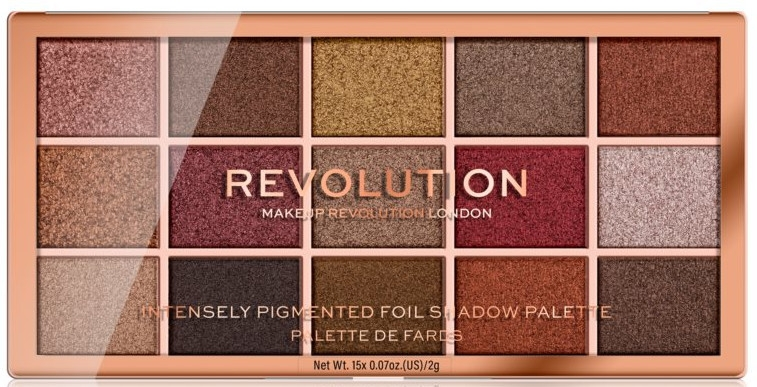 Paleta očných tieňov - Makeup Revolution Foil Frenzy Eye Shadow Palette