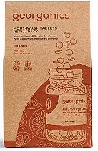 """Voňavky, Parfémy, kozmetika Tabletky pre ústnu vodu """"Pomaranč"""" - Georganics Mouthwash Tablets Refill Pack Orange (vymeniteľná jednotka)"""
