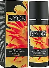 Voňavky, Parfémy, kozmetika Nočný krém s hodvábom, beta-glukánom a arganovým olejom - Ryor Night Cream With Silk, Beta-Glucan And Argan Oil