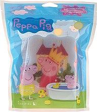 Voňavky, Parfémy, kozmetika Hubka do kúpeľa Peppa Pig, Peppa v korunke, ružová - Suavipiel Peppa Pig Bath Sponge