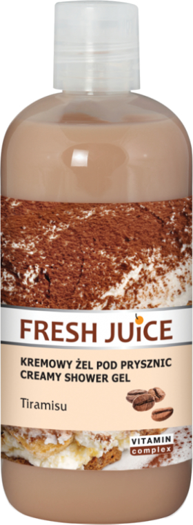 "Krémový sprchový gél ""Tiramisu"" - Fresh Juice Tiramisu Creamy Shower Gel"