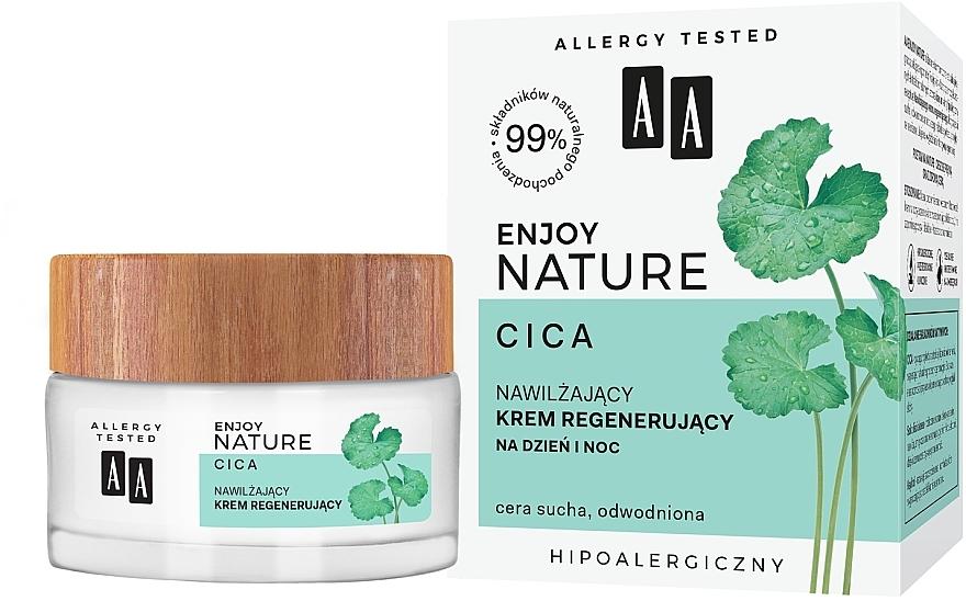 Hydratačný a obnovujúci krém na tvár - AA Enjoy Nature Cica Moisturising Regenerating Cream