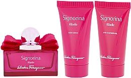 Voňavky, Parfémy, kozmetika Salvatore Ferragamo Signorina Ribelle - Sada (edp/50ml +sh/gel/50ml+ b/lot/50ml)