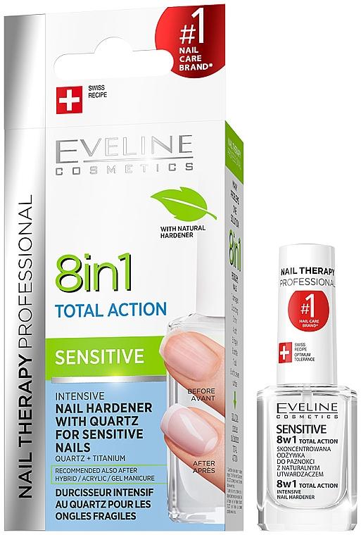 Univerzálny lak na nechty - Eveline Cosmetics Nail Therapy Professional Sensitive