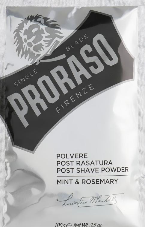 Púder po holení s mätou a rozmarínom - Proraso Mint & Rosemary Post Shave Powder