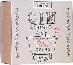 Voňavky, Parfémy, kozmetika Sada - Bath House Barefoot & Beautiful Gin and Tonic Bathing Gift Set (lip/balm/15g + bath/soak/60ml + bath/salt/60g)