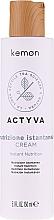 Voňavky, Parfémy, kozmetika Bezoplachový krém na suché vlasy - Kemon Actyva Nutrizione Istantanea Cream