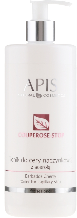 Jemné tonikum s extraktom z aceroly proti kuperóze - Apis Professional Couperose-Stop Barbados Cherry Tonner