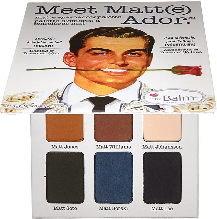 Paleta tieňov na viečka - TheBalm Meet Matt(e) Ador Matte Eyeshadow Palette