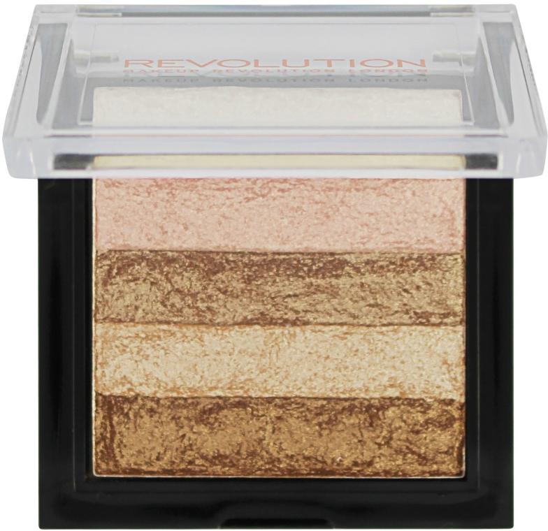 Rozjasňovač na tvár - Makeup Revolution Shimmer Brick — Obrázky N2