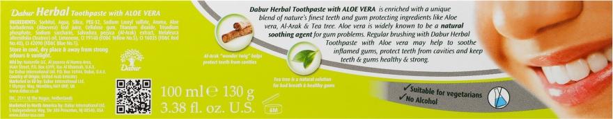 """Zubná pasta """"Aloe Vera"""" - Dabur Herbal Aloe Vera Toothpaste — Obrázky N3"""