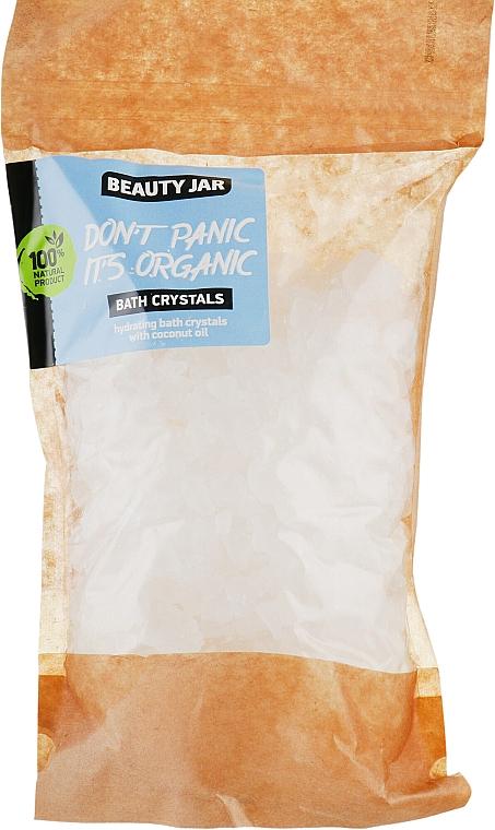 "Hydratačné kryštály do kúpeľa s kokosovým olejom ""Don't Panic it's Organic"" - Beauty Jar Bath Crystals"