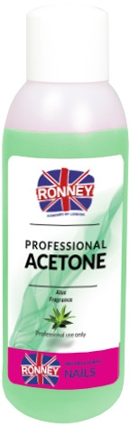 "Prostriedok pre odstránenie laka ""Aloe"" - Ronney Professional Acetone Aloe"