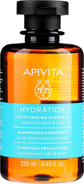 Hydratačný šampón s kyselinou hyalurónovou a aloe - Apivita Moisturizing Shampoo With Hyaluronic Acid & Aloe
