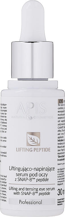 Liftingové sérum na kontúru očí - APIS Professional Lifting Peptide Lifting And Tensing Eye Serum