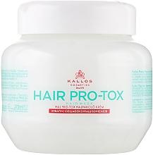 Voňavky, Parfémy, kozmetika Vlasová maska s keratínom, kolagénu a kyseliny hyalurónovej - Kallos Cosmetics Pro-Tox Hair Mask