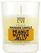 "Voňavky, Parfémy, kozmetika Prírodná masážna sviečka ""Arašidové želé"" - Sezmar Collection Peanut Butter Jelly"