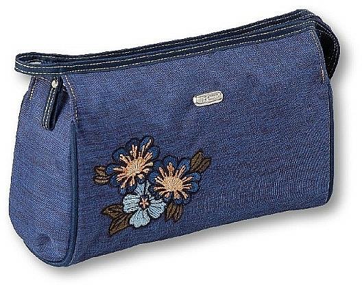 """Kozmetická taška """"Soft"""", 96044, modrá - Top Choice — Obrázky N1"""