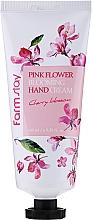 Voňavky, Parfémy, kozmetika Krém na ruky Višňový kvet - FarmStay Pink Flower Blooming Hand Cream Cherry Blossom