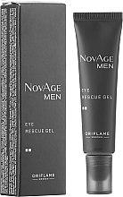 Voňavky, Parfémy, kozmetika Tonizujúci gél na pokožku okolo očí - Oriflame NovAge Men Eye Rescue Gel