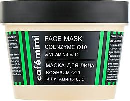 """Voňavky, Parfémy, kozmetika Maska na tvár """"Koenzým Q10 a vitamíny E, C"""" - Cafe Mimi Face Mask"""