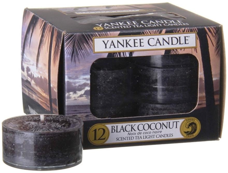 Čajové sviečky - Yankee Candle Scented Tea Light Candles Black Coconut — Obrázky N1