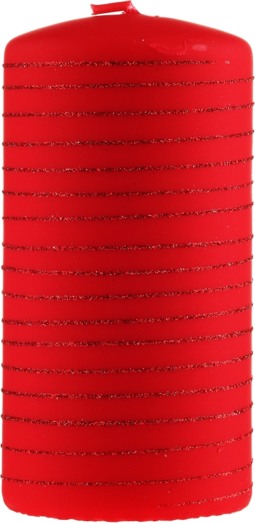 Dekoratívna sviečka, červená, 7x10cm - Artman Candle Andalo — Obrázky N1