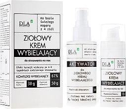 """Voňavky, Parfémy, kozmetika Sada """"Bieliaci nočný komplex"""" - DLA (cr/30g + activ/50g)"""