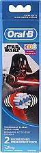 Voňavky, Parfémy, kozmetika Náhradné hlavice do detskej zubnej kefky, Darth Vader - Oral-B Star Wars