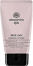 Voňavky, Parfémy, kozmetika Hydratačný lotion na ruky - Alessandro International Spa Nice Day Hand Lotion