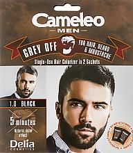 Voňavky, Parfémy, kozmetika Jednorazová farba na okamžité ofarbenie sivých vlasov - Delia Cameleo Men