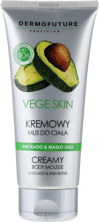 "Krémový mušt na telo ""Avokádo a maslo Shea"" - DermoFuture Vege Skin Creamy Body Mousse Avocado & Shea Butter"
