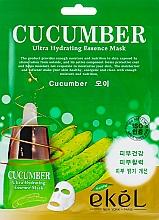 Voňavky, Parfémy, kozmetika Textilná maska s uhorkovým extraktom - Ekel Cucumber Ultra Hydrating Essence Mask