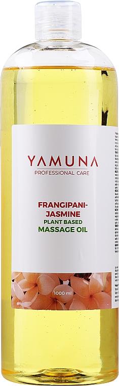 "Masážny olej ""Frangipani-Jazmín"" - Yamuna Frangipani-Jasmine Plant Based Massage Oil"